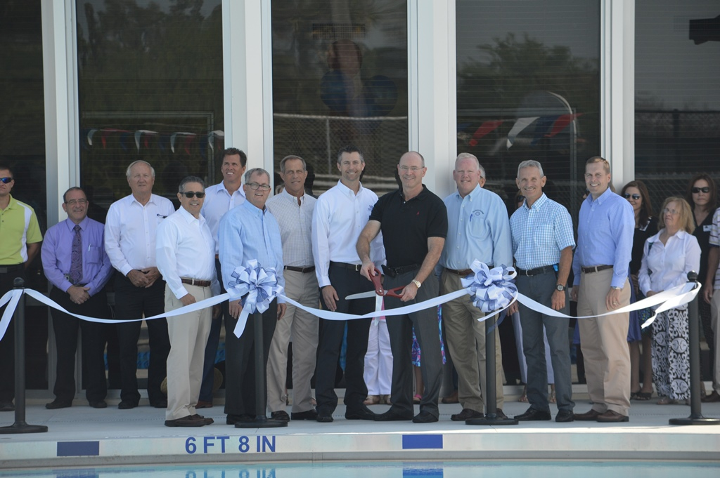 Aquatic Center ribbon cutting ceremony
