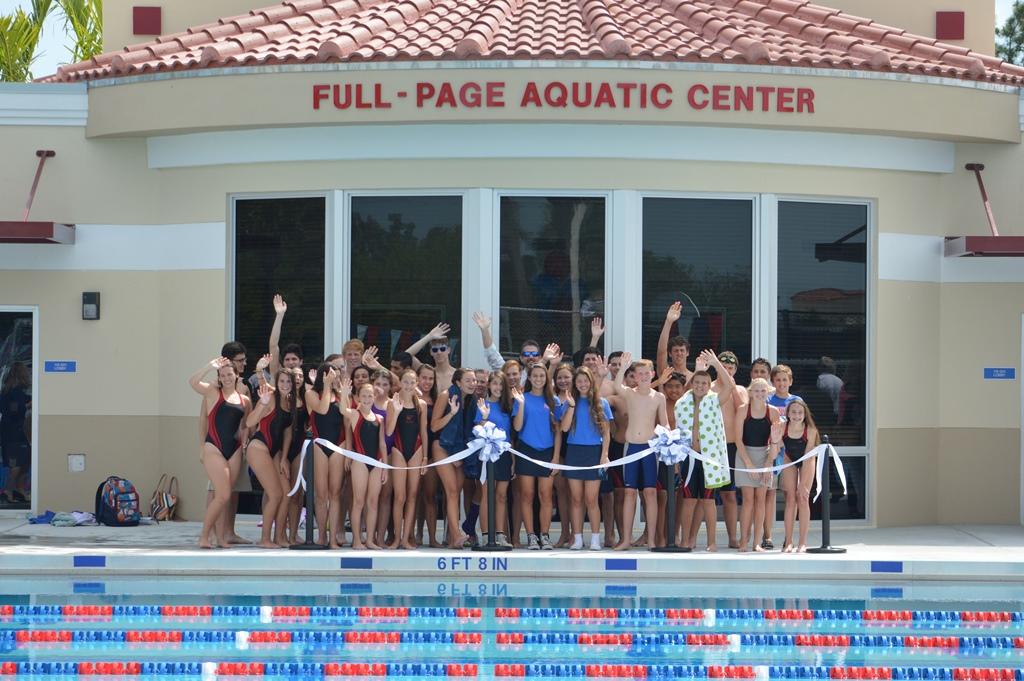 Aquatic Center opening group photo