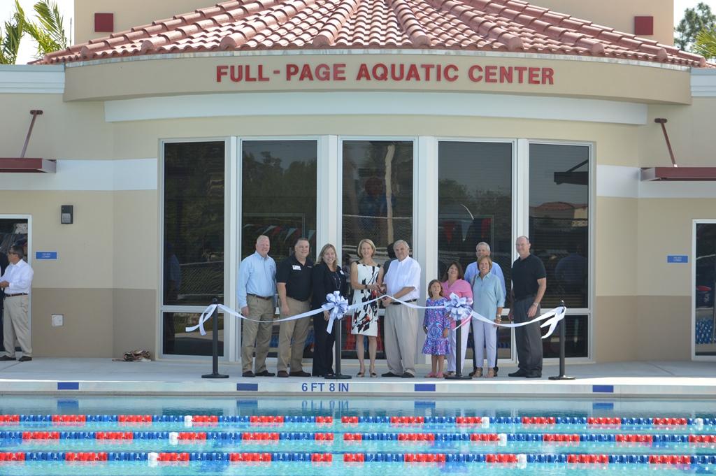 Aquatic Center Ribbon Cutting