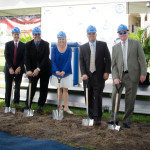 Administration at the groundbreaking for the Center for Performing Arts
