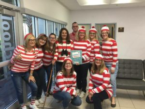 TKA staff dressed up as Where's Waldo