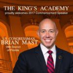 Brian Mast 2017 Commencement Speaker