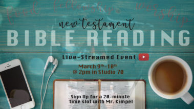 bible reading poster