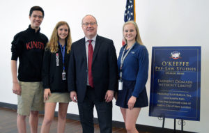 Mr. Scott Bullock along with TKA Students Tyler Chin-Lenn, Danielle Dryer, and Brenna Dunn