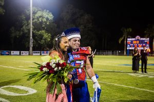 Madion Lee honored as homecoming queen with homecoming king, Carlo Basile